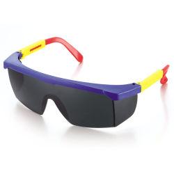 PC preto Lente material colorido da estrutura de Nylon LED Industrial óculos de proteção para os olhos