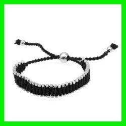 2012 Black Bracelet en acier inoxydable de corde Stel bijoux (TPSB737)