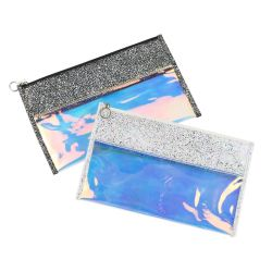 Mappen-Reißverschluss-Speicher-Beutel-preiswerter Beutel der PU wasserdichter Laser Belüftung-Dame-Feder-Beutel-fördernder Sonnenbrille-Kupplungs-Dame-Handbag Cosmetic Coin Purse