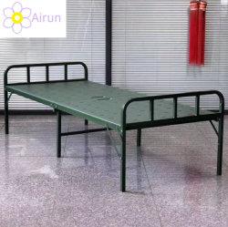 屋外の陸軍訓練の鋼鉄基礎プラスチック走行の折り畳み寝台の災害救助の配置の携帯用動産の便利な詰められた折りたたみの折り畳み寝台
