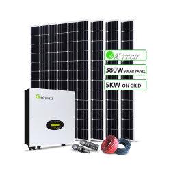 Grade de fase única amarrado 5Kw Sistema de energia solar na grelha com sistema de energia solar para Home
