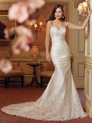 Neue reizvolle Form-dünnes Hochzeits-Kleid der Art-2020 weg vom Schulter-Brautkleid-Spitze-Fisch-Endstück-Hochzeits-Kleid