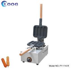 Équipement de cuisine commercial Mini la cuisson des aliments de collation Gaufre Belge pop commercial du gaz de la machine 4 bâtonnets Hot Dog Stick machine à gaufres