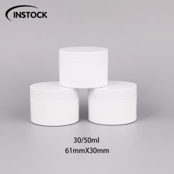Comercio al por mayor de plástico PET envases cosméticos 30/50ml frasco de crema de moldeado por inyección Double-Layered frascos para cremas y los ojos