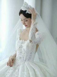 럭셔리 하이 엔드 패셔너블한 볼 가운 신부 웨딩 드레스 무게 9kg 이상