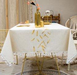 Neuer Entwurfs-wasserdichte Tischdecke mit Blatt für Küche