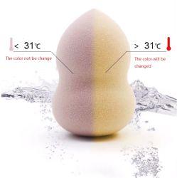 Échantillon gratuit Water-Drop maquillage beauté PU éponge de forme peut être le changement de couleur Blender