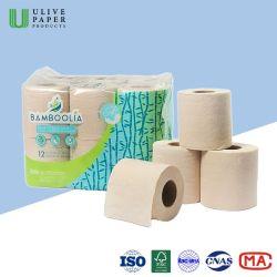 Premium Bamboo Natural-papierrol voor toiletpapier voor huishoudelijk gebruik