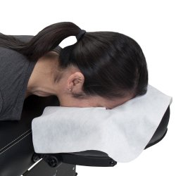 Groothandel Wit Soft Spunlace Non Woven Wegwerp Face Cradle Cover Voor massagetafel