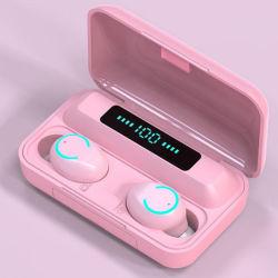 5 Farben-Note drahtlose Bluetooth 5.0 Kopfhörer InOhr Geräusche der Farben-F9-9 Tws Macaron, die Stereo-HD Aufruf-Kopfhörer des Kopfhörer-beenden