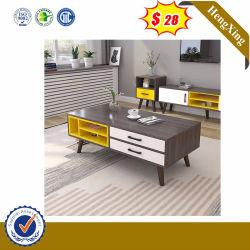 Venta caliente lado MDF moderno escritorio mesa de café de vidrio (HX-8ND9224)