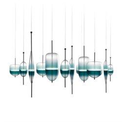 После современных творческих люстра бар бар ресторан Кафе оформление искусства просто постепенное изменение стекла индивидуальные лампы (DW-D7248)