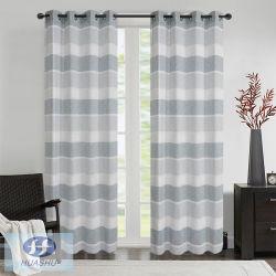 Rayas de poliéster puro tejido de la ventana/ cortina con el crisantemo hilos en la Trama - #2032