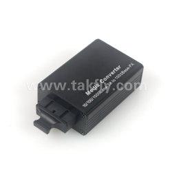 Mini-10/100/1000BASE-TX Conversor de mídia de fibra óptica