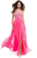 セクシーな衣類の前部分割された形式的なガウンの水晶玉が付く名声のイブニング・ドレス