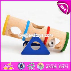 Nuevos productos para interiores gracioso de animales pequeños rastrero de Pet de madera juguete balancín W06F028
