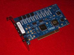 Tansonic 4ports PCI du système de gestion de l'enregistrement de téléphone