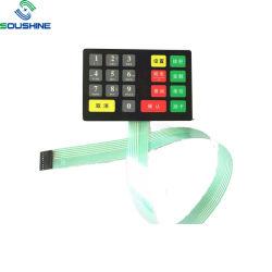 Custom silicone à prova de LED do botão interruptor de membrana