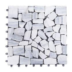 Bricolaje de piedra de mármol duradero Baldosa mosaico de la cubierta balcón patio jardín decoración exterior el enclavamiento Teja