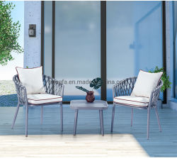 Для использования вне помещений плетеной стулья для чая алюминиевый стол металлической стороной в таблице