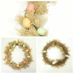 卸し売り人工的なイースターエッグの花輪のクリスマスの装飾Dy21-91