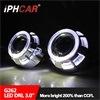 Двойной Iphcar LED Angel глаз объектива проектора 35W 12V биксеноновые лампы высокой интенсивности объектива проектора белый/красный/синий автомобильного освещения