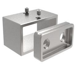Commerce de gros carrés Balustrade en acier inoxydable de la main courante de la plaque de bride de base de paroi