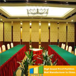 Sala de Conferências Deslizante de Tecido Acústico Dobrável de Madeira Divisórias Móveis Móveis Paredes para Salões de Banquetes