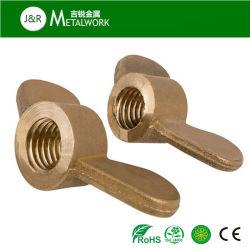 М4 М8 латунные медного кольца в форме бабочки барашковую гайку (DIN315)