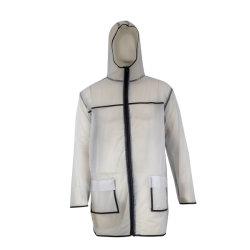 明確なPVC防水大人の軽量雨衣類