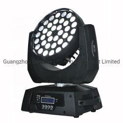 Illuminazione capa mobile 36X18W Rgbwauv 6in1 del DJ della lavata dello zoom LED