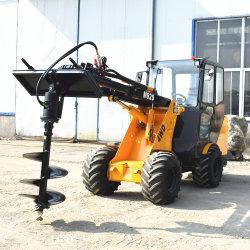 Mini Bulldozer Petit trou Post Digger pelle Excavatrice à roues chargeur avant