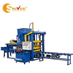 O Qt4-20 Semiautomáticos e cor de betão hidráulico de intertravamento de Pavimentação Bloco oco de cimento para a construção da máquina de moldagem