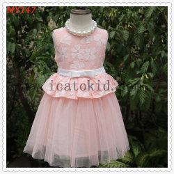 Una línea/Princesa Knee-Length Flor chica vestir - Tulle/Lace mangas cortas alrededor del cuello con puntilla