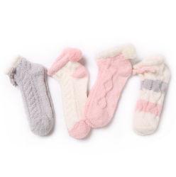 Custom новый дизайн зимний теплый микрофибра флис размытые полотенце носки