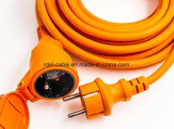 IP44 Европейского водонепроницаемый удлинительный шнур с пружиной затвора NF красного цвета