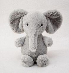 Pele macia cinza recheadas Animal Elefante de pelúcia Toy