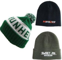卸売100%のアクリルのカスタム編まれた帽子の帽子のフォールドの冬の帽子