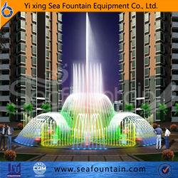 Fontane di acqua musicali nette inossidabili della piattaforma dello sbarco asciutto del pavimento di Dancing di disegno professionale grandi