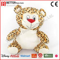 Animale farcito del nuovo di disegno del fumetto del ghepardo del bambino giocattolo molle del leopardo