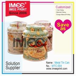 L'impression personnalisée Imee Candy Sweet les écrous des collations le thé de café de l'emballage de bougie d'emballage d'étain métal Pakage Can Box de l'artisanat de cas des articles cadeaux
