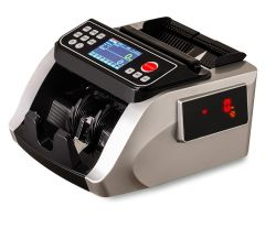 Y5518 Silver лучший счетчик, двойной датчик цвета мг УФ ИК Counterfit деньги детектор подсчета наличных денежных банкнот машины законопроект о борьбе с