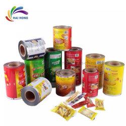 En aluminium laminé Rouleau de film plastique pour l'emballage alimentaire/snack-rouleaux de film