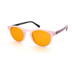 Les trames mignon avec motif acétate lunettes lunettes anti blocage bleu