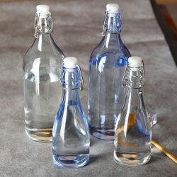 100% Geen Lood 200ml-1000ml ontruimen de Fles van het Glas met Gesp