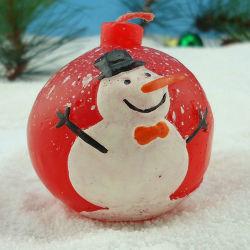Nuevo OEM gracioso muñeco de nieve de Navidad vela