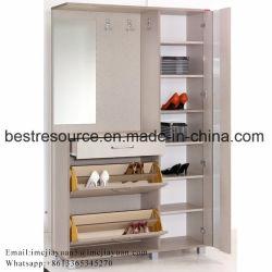 Hölzerner Tür-Speicher-Schuh-Schrank der Farben-4 mit zwei Fächern
