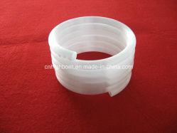 Milky White Helix Fused Silica ガラスチューブ