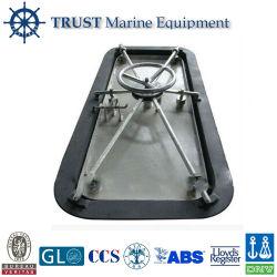 Tipo paratia stagna resistente della rotella di mano di pressione d'acciaio marina