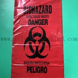 Farbige medizinische Kunststofftüten/Abfallbeutel/Beutel für biologische Gefahrenstoffe auf Rolle